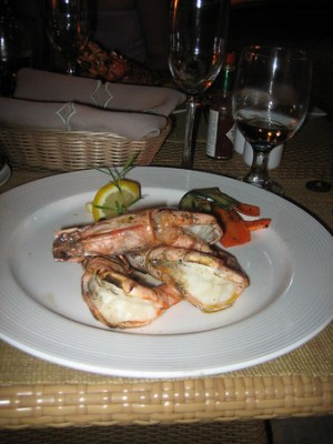 And grilled prawns. These were better and cheaper.