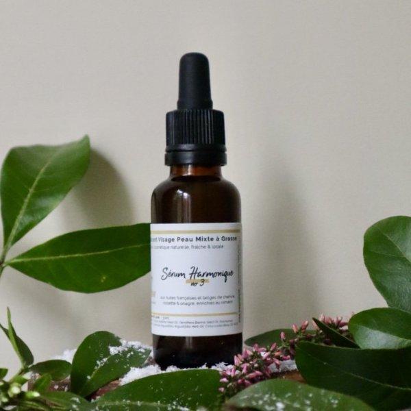 sérum équilibrant peau mixte à grasse avec huile essentielle