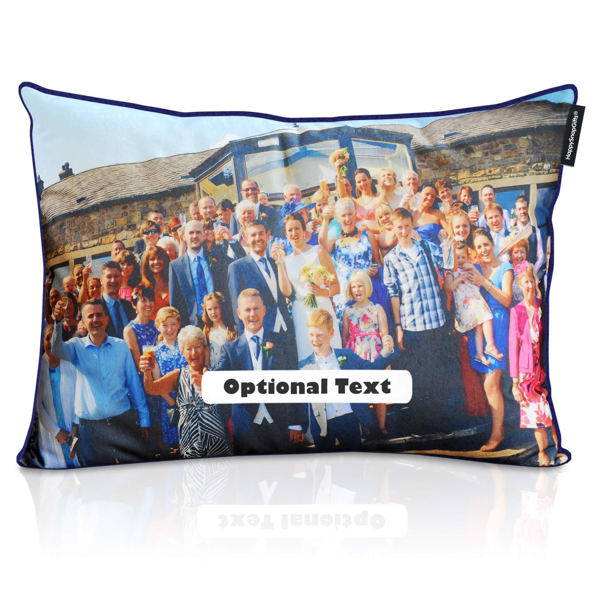 personalised photo cushion rectangle shapes