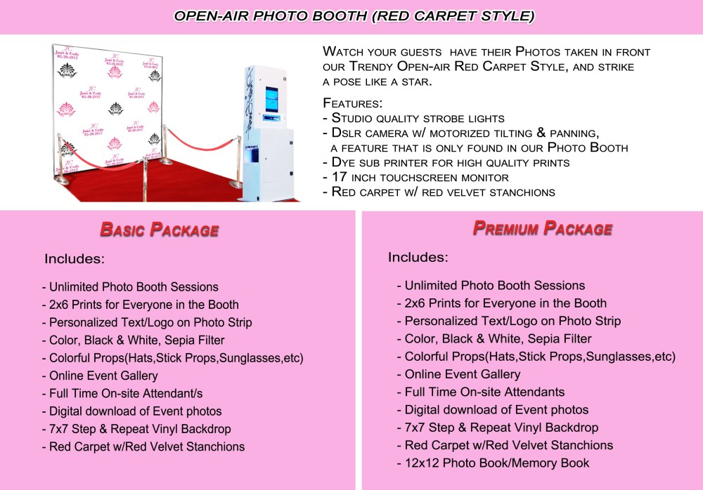 Happy Snap Photo Booth Open-air Red Carpet Style