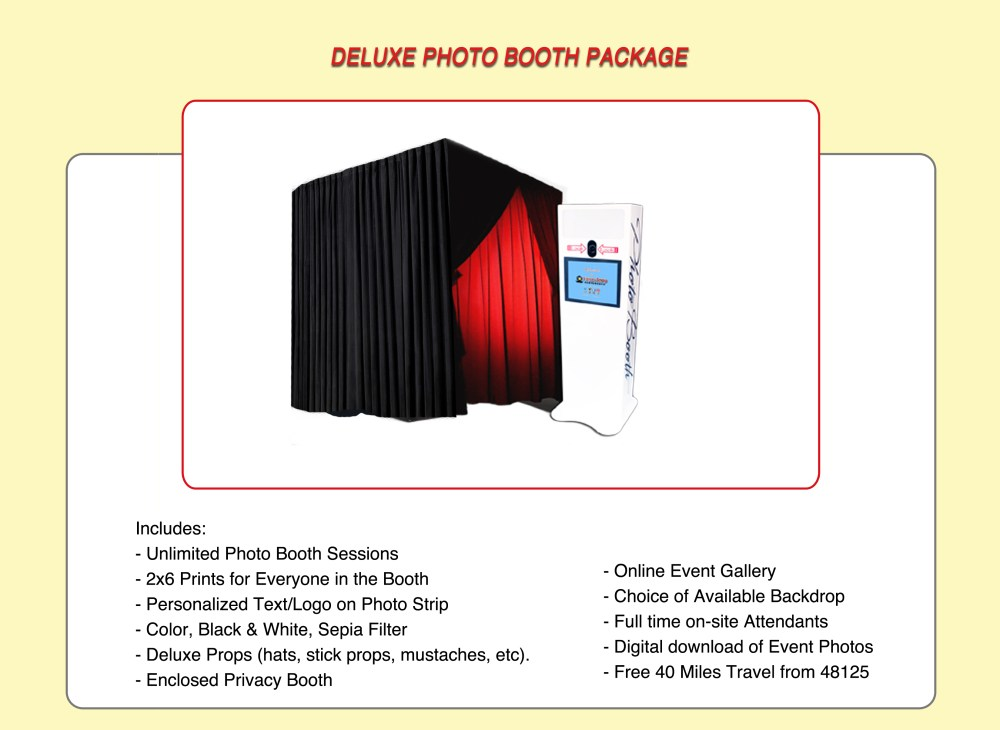 Deluxe Photo Booth Package