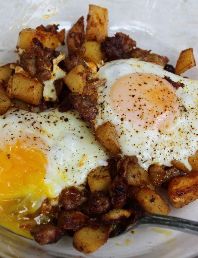 Easy Sausage & Spicy Potato Hash