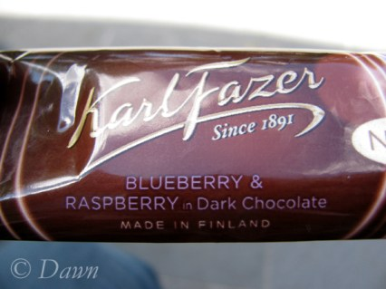 Blueberry & raspberry chocolate