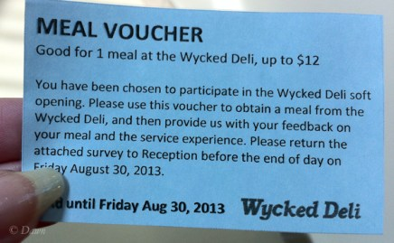 Voucher from Wycked Deli