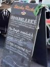Sticky Ricky's menu