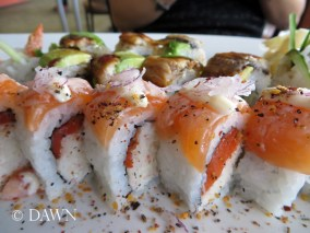 Roll from Big Catch Sushi in Kingsland Market