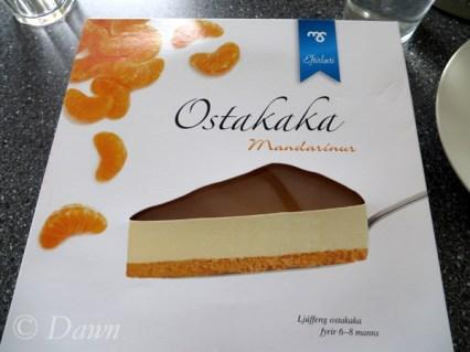 Ostakaka mandarin orange cheesecake from the Bonus market