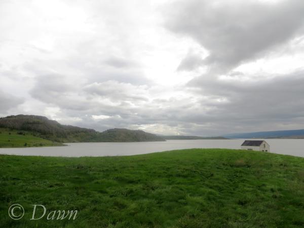 Egilsstaðir and the lake