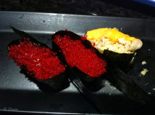 Flying fish roe and crunchy sushi from The One Sushi