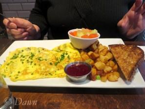 Breakfast from Trois Garçons - An omelette for mum.