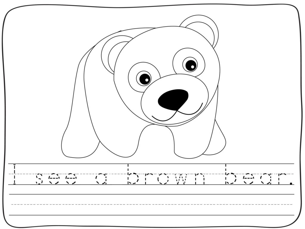 Free Brown Bear Activities For Back To School In Kindergarten Amp First Grade