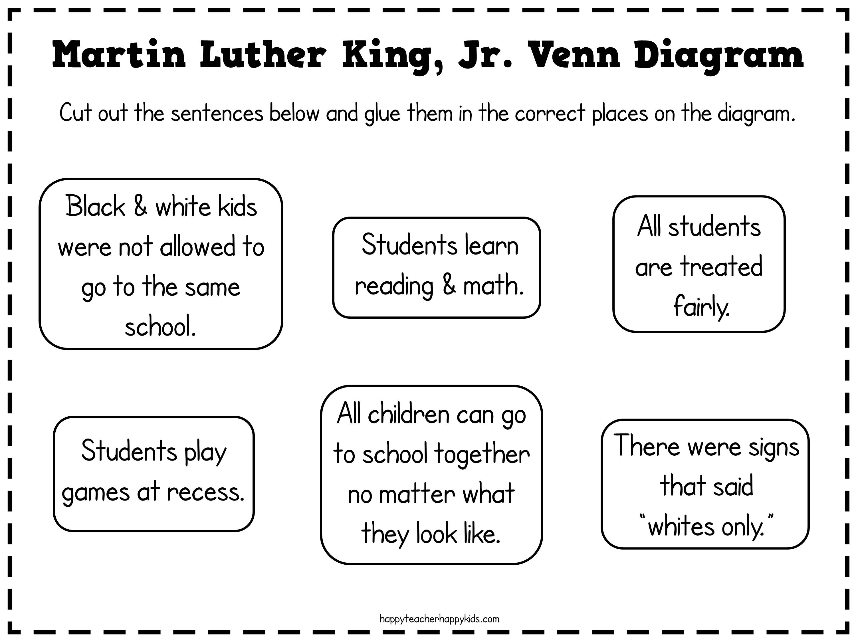Kindergarten Worksheet Martin Luther King Jr Crafts