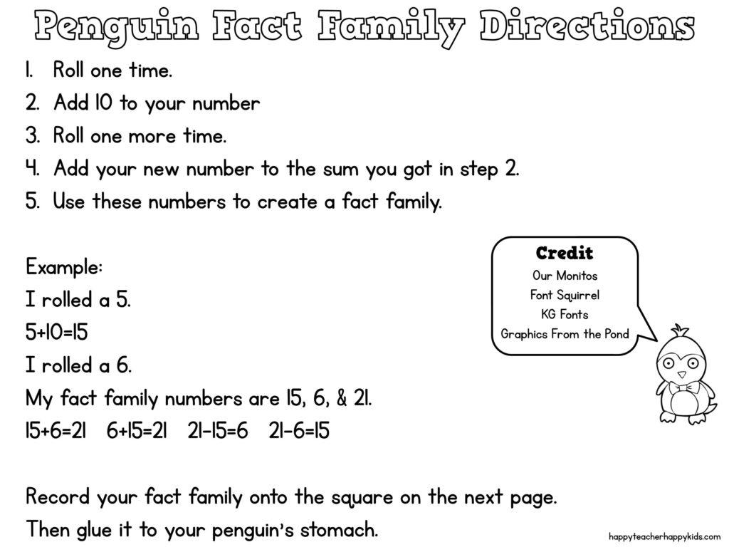 Penguin Math Craft