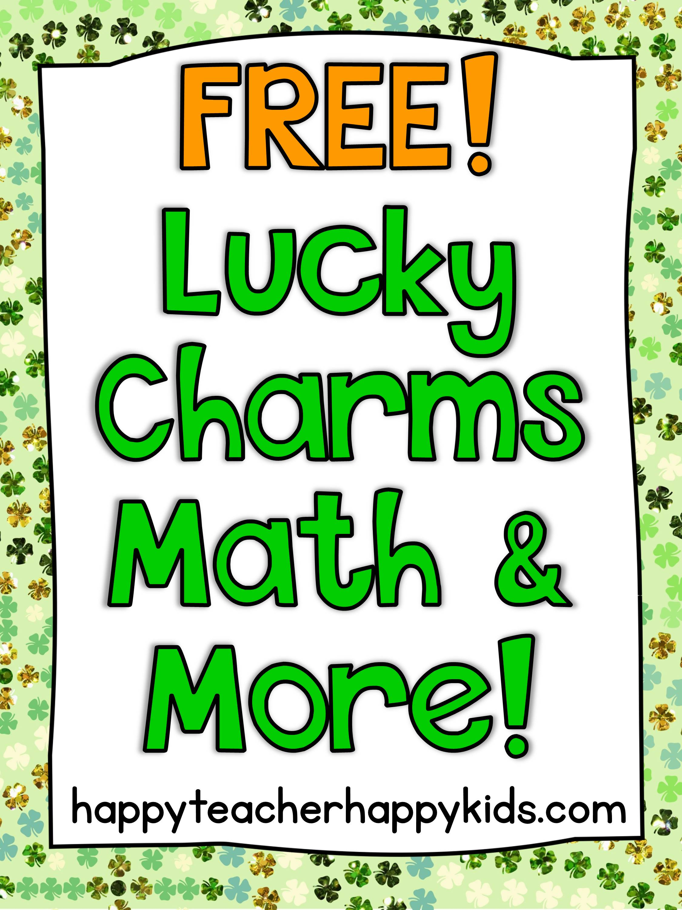 Free Lucky Charms Math Amp More
