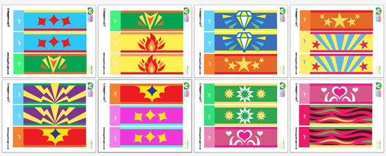 12 lucha libre cuff templates to print and wear.