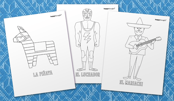 coloring in sheets for cinco de mayo fiesta templates