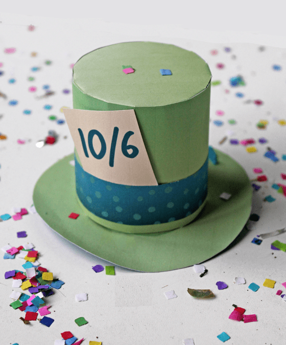 graphic regarding Mad Hatter Hat Template Printable identified as Ridiculous Hatter mini ultimate hat - For all your fab pals in just