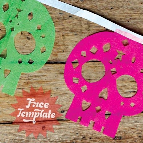 Calavera papel picados templates and patterns sugar skull or careta designs!