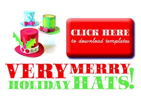 xmas festive mini top hats
