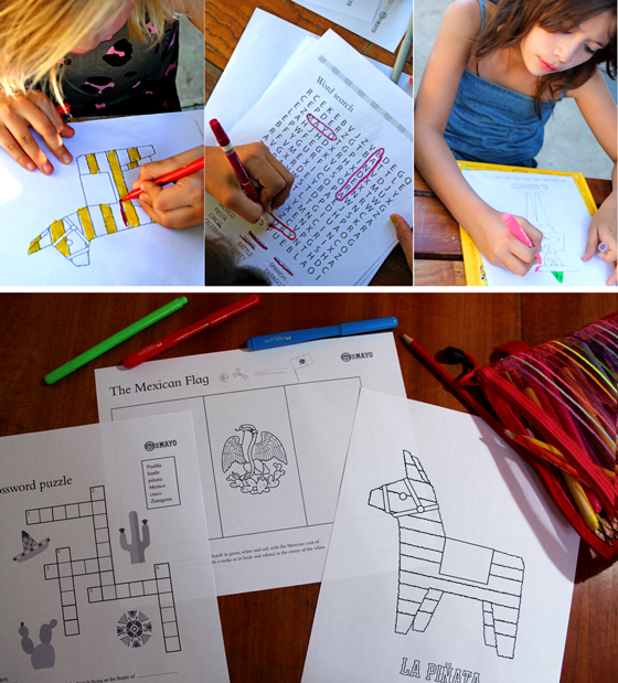 Cinco de Mayo activity worksheets for school or college!