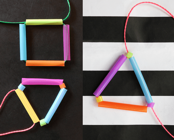 straw drinking paper kids easy do craft necklace