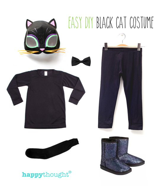animal costume ideas: Easy to throw together costume with cat mask!