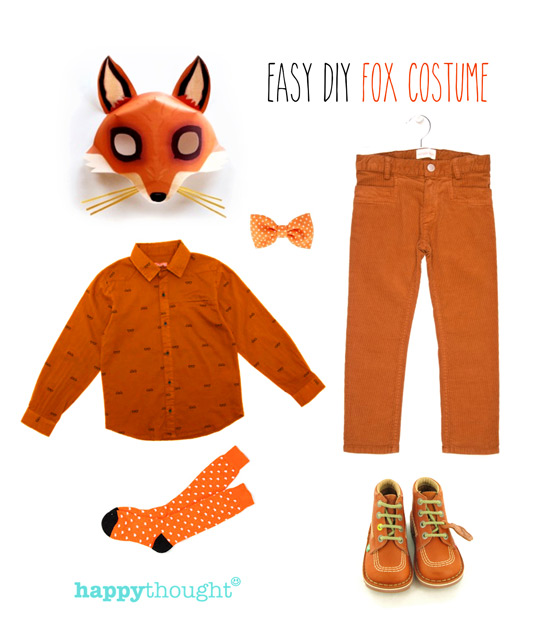 Simple diy mask ideas easy fun dress up animal costume ideas easy to throw together fox costume with fox mask solutioingenieria Gallery