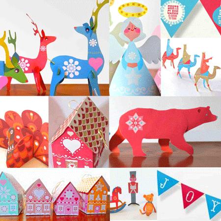 10 diy holiday printables easy to make decorations for Printable christmas craft ideas