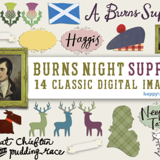 burns night digital scrapbooking images for scottish celebrations