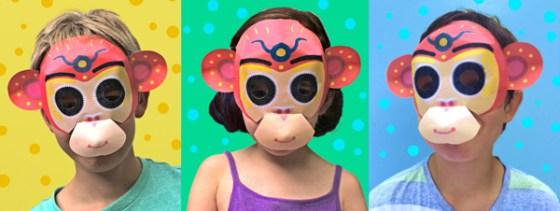 Three cheeky monkeys Chinese new year paper mask