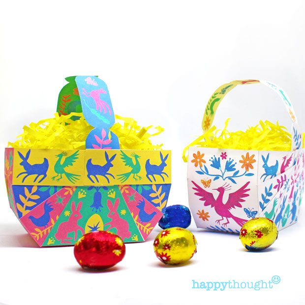 3 easy to make no-sew DIY Easter Basket template designs + instructions included