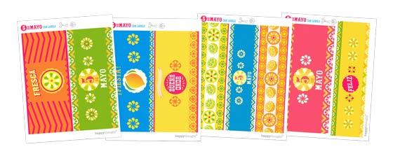Cinco de Mayo labels printable can signs!
