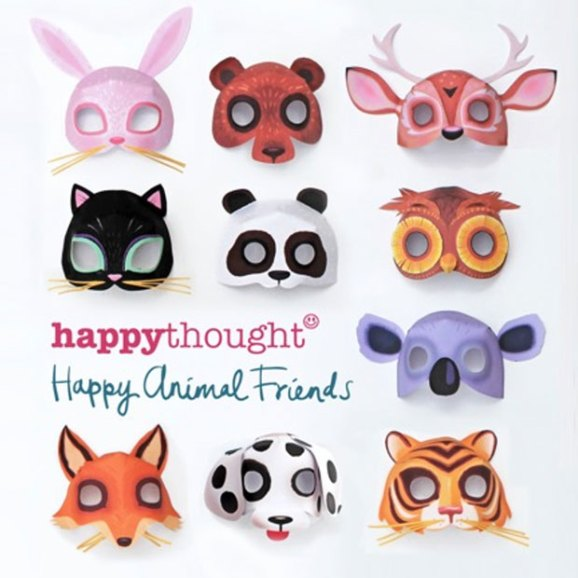 DIY papercraft animal mask templates for costumes and dress-up