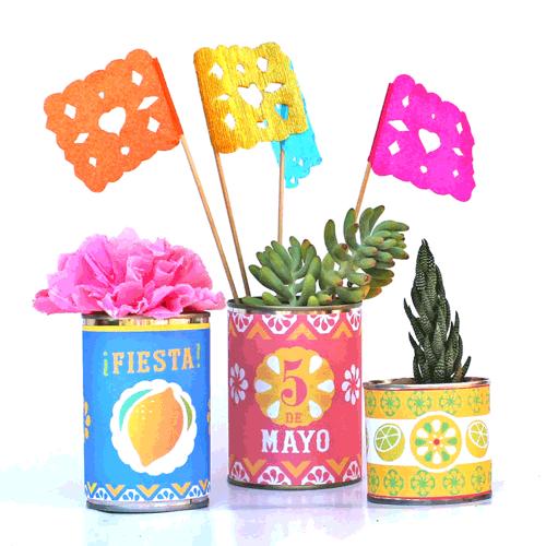 Printable Tin Can Labels Mexican Cinco De Mayo Diy Templates