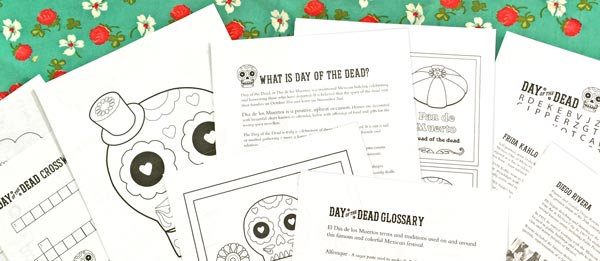day of the dead printable pdf worksheets spanish and english