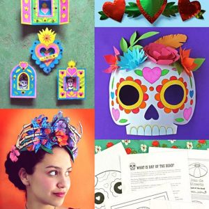 Day of the Dead activity worksheets: Download crafts and worksheets ti learn more about El Dia de los Muertos.