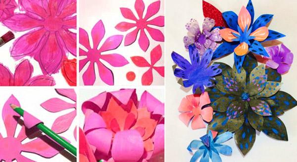 Paper flowers for el Dia de los Muertos