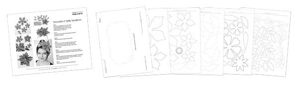 Festive craft activity worksheets-poinsetta-templates
