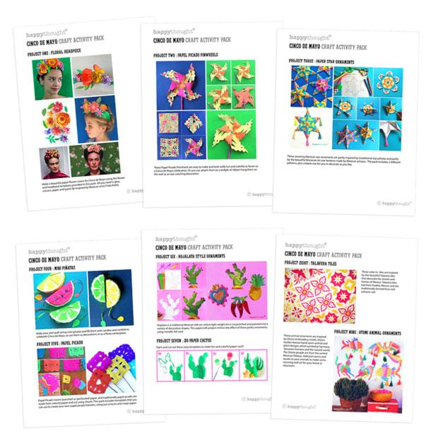 Actividades imprimibles para niños: ¡Celebrar el Cinco de Mayo!