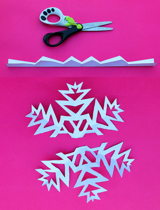 Snowflake crowns paper craft decorations with simple PDF instructions: Happythought Holiday craft activity pack!