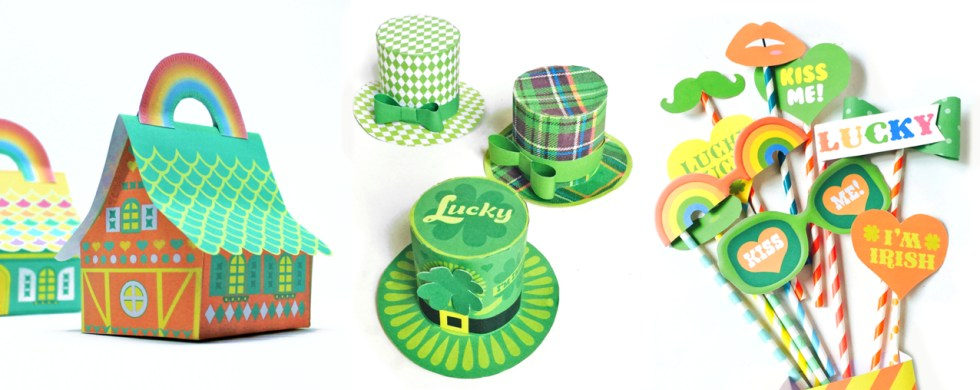 St Patrick's Day printable templates for party or classroom