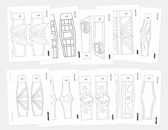 superhero cuuf templates for homemade superhero mask costume masks!