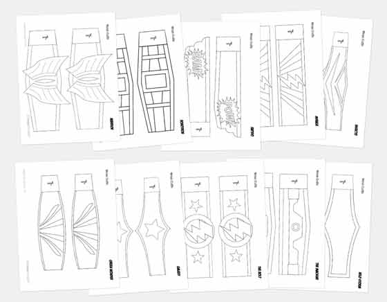 printable superhero masks easy and fun to make diy costume ideas. Black Bedroom Furniture Sets. Home Design Ideas