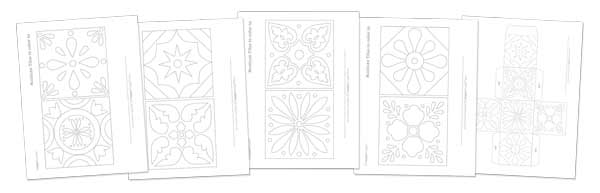 Talavera tiles craft project templates and patterns