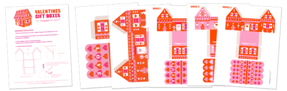 Valentine gift box templates - Perfect for special gifts or for party favors!