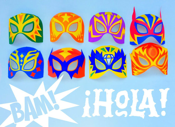 12 DIY Lucha Libre mask cutouts: Easy make!