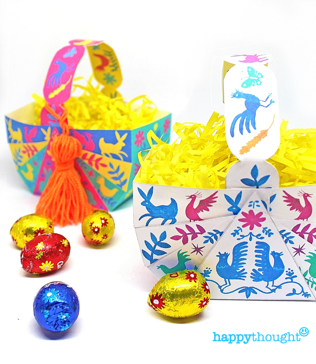 3 no-sew DIY Easter Basket template patterns with teacher friendly PDF instructions included