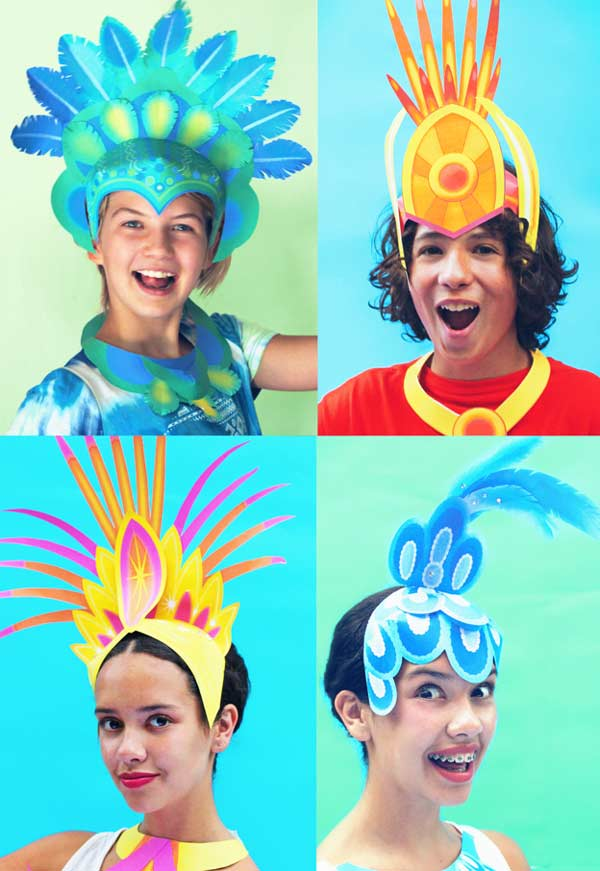 Printable Carnival crowns and headpieces for DIY Carnival costumes and celebrations!  sc 1 st  Happythought & Printable carnival headpiece template: Easy and fun to make DIY ...
