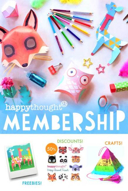 Happythought paper craft club - Easy to make and assemble classroom activities, templates and art projects!