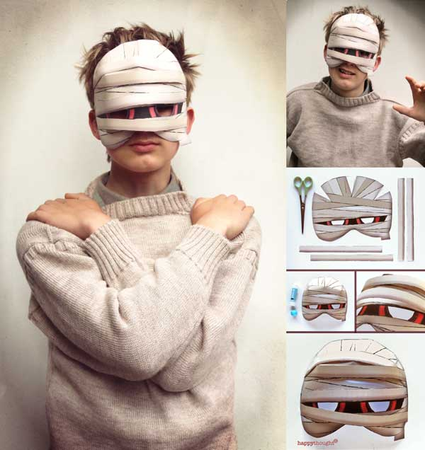 How to make a DIY mummy mask for Halloween parties